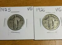 LOT 1925 & 1926 STANDING LIBERTY QUARTERS 2 COINS
