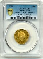 1820 GEORGE III FULL SHIELD BACK  GOLD SOVEREIGN COIN  AU55