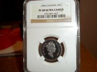 1995 CANADA 25C PF 68 COIN IS IN FANTASTIC CONDITION