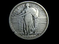 1917-S STANDING LIBERTY QUARTER, VARIETY ONE - 040970