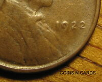 1922 NO D 1C LINCOLN CENT DIE 2 STRONG REVERSE KEY ERROR VER