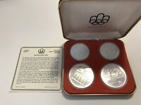 1976 CANADA SILVER OLYMPIC SERIES III COIN SET IN ORG. BOX