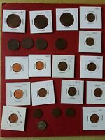 LOT OF OLD PENNYS 1900  1920 COIN CANADA