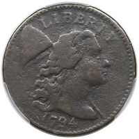 1794 LIBERTY CAP LARGE CENT, HEAD OF 1794,  S-45, R5, PCGS F DETAIL