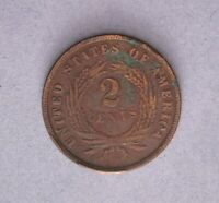 1865 TWO CENT PIECE TYPE COIN  ABOUT UNCIRCULATED AU