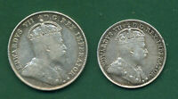 1903H CANADA 10 CENTS AND 1907 FIVE CENTS.