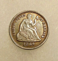 1869 S LIBERTY SEATED HALF DIME  LOW MINTAGE