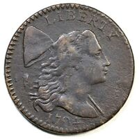 1794 S-38 R-5 SINGLE BERRY LIBERTY CAP LARGE CENT COIN 1C