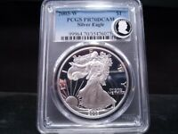 2003-W PR70DCAM PROOF DEEP CAMEO AMERICAN SILVER EAGLE PCGS CERTIFIED PERFECT