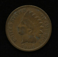 1908 1C US INDIAN HEAD ONE CENT PENNY TYPE COIN G GOOD SHIPS FREE