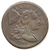 1794 S 57 R 1 LIBERTY CAP LARGE CENT COIN 1C