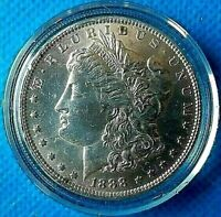 1888-O MORGAN SILVER DOLLAR BU KEY DATE BEAUTIFUL COIN COLLECTORS VAULT FIND