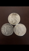 THREE 1926 SILVER PEACE DOLLARS