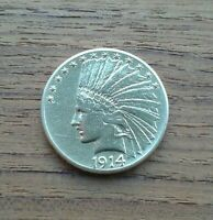 1914 GOLD $10 INDIAN HEAD COIN