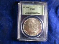 MORGAN SILVER DOLLAR 1902-O MINT STATE 64 PCGS