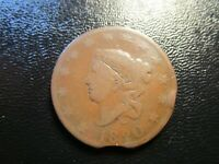 1820 CORONET HEAD LARGE CENT CLIPPED PLANCHET MINT ERROR N-13 VARIETY GOOD
