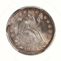 1853 SEATED LIBERTY 10C PCGS CAC CERTIFIED MINT STATE 65 WITH ARROWS PREMIUM QUALITY