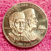LEWIS & CLARK BILLINGS MONTANA MIDLAND EMPIRE FAIR BRONZE PROOF 1969