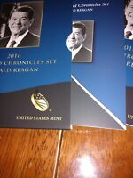 2016 RONALD REAGAN COIN AND CHRONICLES SET W/ 30TH ANNIVERSA