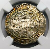NGC MS 61 YORK. EDWARD IV EXQUISITE GROAT. WAR OF THE ROSES. ENGLAND SILVER COIN