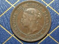 1887 CANADIAN LARGE PENNY QUEEN VICTORIA LOT B9