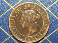 1900H CANADIAN LARGE PENNY QUEEN VICTORIA LOT B29