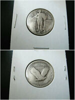 1927 US. SILVER STANDING LIBERTY QUARTER CHOICE VF COIN