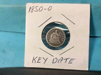 1850-O SEATED HALF SILVER DIME KEY DATE EXCELLENT DETAILS & EYE APPEAL