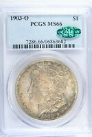 1903 O $1 MORGAN SILVER DOLLAR PCGS MINT STATE 66 CAC