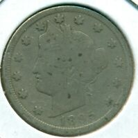 1895 LIBERTY HEAD NICKEL, GOOD, LIGHT OBVERSE SCRATCHES, GREAT PRICE