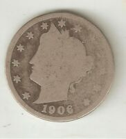U. S. LIBERTY HEAD NICKELS, FIVE-CENT PIECES MINTED IN 1906 2 AND 1907 2