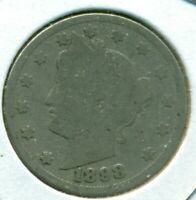 1898 LIBERTY HEAD NICKEL, ABOUT GOOD, GREAT PRICE