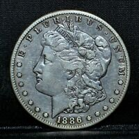 1886-S MORGAN SILVER DOLLAR  EXTRA FINE  EXTRA FINE DETAILS  $1  DATE TRUSTED