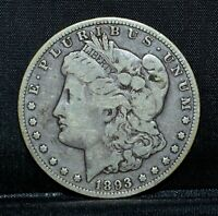 1893-O MORGAN SILVER DOLLAR  VG  GOOD  $1  COIN  NOW TRUSTED