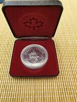 CASED 1975 CANADA SILVER PROOF DOLLAR COIN   23.3G