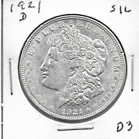1921 D MORGAN DOLLAR - 90 SILVER FANTASTIC CONDITION