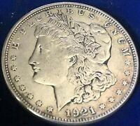 1921 D MORGAN SILVER DOLLAR EXTRA FINE ESTATE FIND LOT 110