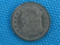 1834 UNITED STATES LIBERTY BUST 5C HALF DIME COIN
