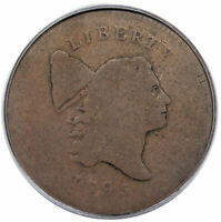 1795 LIBERTY CAP HALF CENT PLAIN EDGE STRUCK OVER TAL C 6A R2 PCGS VG08