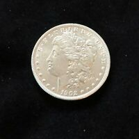 1902 $1 MORGAN SILVER DOLLAR AU