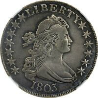1803 BUST HALF DOLLAR NGC EXTRA FINE  DETAILS CLEANED