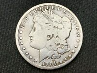 1901-O  MORGAN DOLLAR    VG     3 OR MORE  FREE S/H      90 SILVER   B201