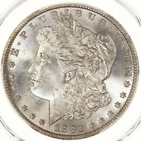 1882-CC MORGAN $1 PCGS CERTIFIED MINT STATE 65 MINT SILVER DOLLAR COIN