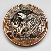 HOBO NICKEL HELL HAND CARVED VATICAN CITY ONE OZ COPPER COIN