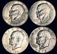 EISENHOWER SILVER DOLLAR 19712 1776-19761 19781 FOUR COIN LOT UNCERTIFIED]