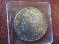 1890-S MORGAN SILVER DOLLAR SUPER-HIGH GRADE, AMAZING REVERSE SHIPS FREE
