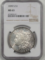 1899-S MORGAN DOLLAR NGC MINT STATE 63