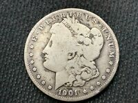 1901-O  MORGAN DOLLAR    VG        3 OR MORE  FREE S/H      90 SILVER   B408