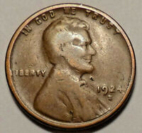 1924 S LINCOLN WHEAT CENT PENNY - NOT STOCK PHOTOS - SHIPS FREE