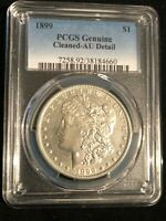 1899 $1MORGAN SILVER DOLLAR PCGS GENUINE CLEANED AU DETAIL